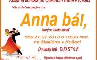 Anna bál – pozvánka