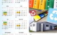 Kalendár zvozu odpadov v tradičnom formáte