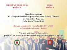 Pozvánka na koncert do evanjelického kostola