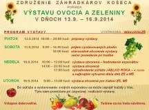 Pozvánka na výstavu ovocia a zeleniny