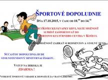 Pozvánka na športové dopoludnie