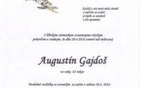 Smútočné oznámenie Augustín Gajdoš