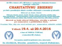 Charitatívna zbierka šatstva 19.4-20.4.2016