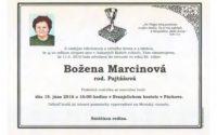 Smútočné oznámenie Božena Marcinová