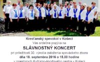 30. výročie Kresťanského spevokolu v Košeci