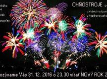 Pozvánka na novoročné ohňostroje