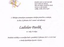 Smútočné oznámenie Ladislav Pavlík