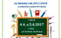 Informácia o zápise do prvého ročníka ZŠ 2017-2018