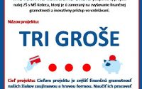 Nadácia Slovenskej sporiteľne podporila projekt našej ZŠ TRI GROŠE