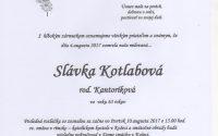 Smútočné oznámenie Slávka Kotlabová