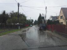 Oprava cesty na Továrenskej ulici