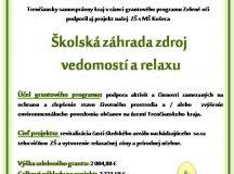 Projekt školská záhrada zdroj vedomostí a relaxu