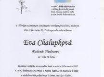 Smútočné oznámenie Eva Chalupková