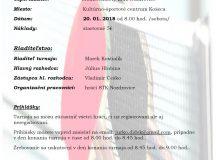 Pozvánka na stolnotenisový turnaj o pohár starostu