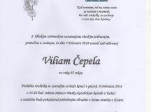 Smútočné oznámenie Viliam Čepela