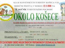 Pozvánka na turistiku Okolo Košece 2018