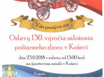 Oslavy 130. výročia založenia PZ v Košeci