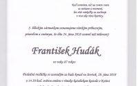Smútočné oznámenie František Hudák