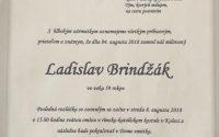 Smútočné oznámenie Ladislav Brindžák