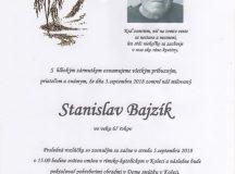 Smútočné oznámenie Stanislav Bajzík