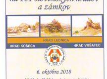 Výstup na 101 slovenských hradov a zámkov 2018
