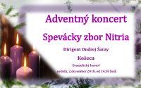 Pozvánka na adventný koncert v evanjelickom kostole