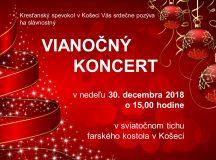 Pozvánka na vianočný koncert do rímsko-katolíckeho kostola