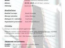 Pozvánka na stolnotenisový turnaj o pohár starostu obce Košeca
