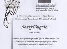 Smútočné oznámenie Jozef Bugala