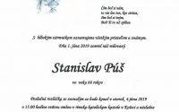 Smútočné oznámenie Stanislav Púš