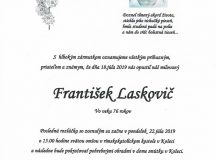 Smútočné oznámenie František Laskovič