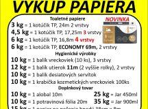 Výkup papiera 25.09.2019