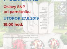 Pozvánka na oslavy výročia SNP