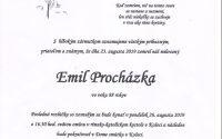 Smútočné oznámenie – Emil Procházka