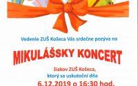 Mikulášsky koncert 06.12.2019
