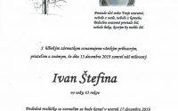 Smútočné oznámenie – Ivan Štefina