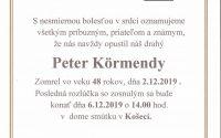 Smútočné oznámenie – Peter Körmendy