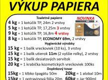 Výkup papiera 29.01.2020
